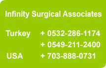 graphic of infinity surgery contact info