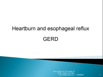Heartburn and Esophageal Reflux